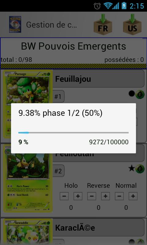 Pokemon tcg manager - screenshot