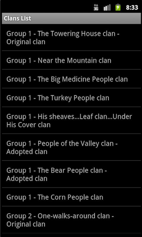 Navajo Clans: Native Language - screenshot