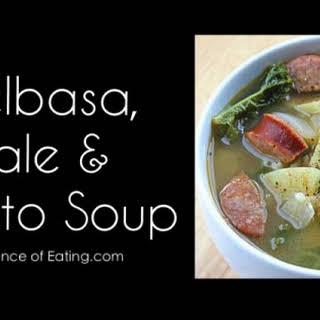 Kielbasa, Kale and Potato Soup.