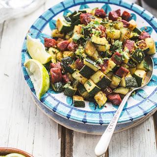 SautéEd Zucchini with Chorizo, Cilantro and Lime Recipe