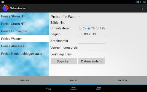 Nebenkosten - screenshot thumbnail