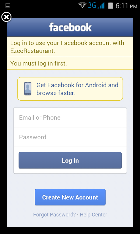 EzeeRestaurant Search- screenshot