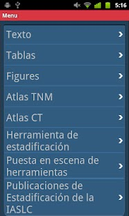 IASLC Staging Atlas -Spanish- screenshot thumbnail
