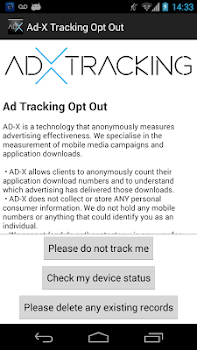 Ad-X Tracking Opt Out