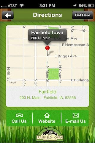 Fairfield Iowa- screenshot