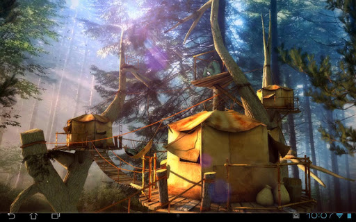 Tree Village 3D Pro lwp app for Android screenshot