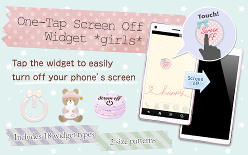 One-Tap ScreenOff Widget girls- screenshot thumbnail