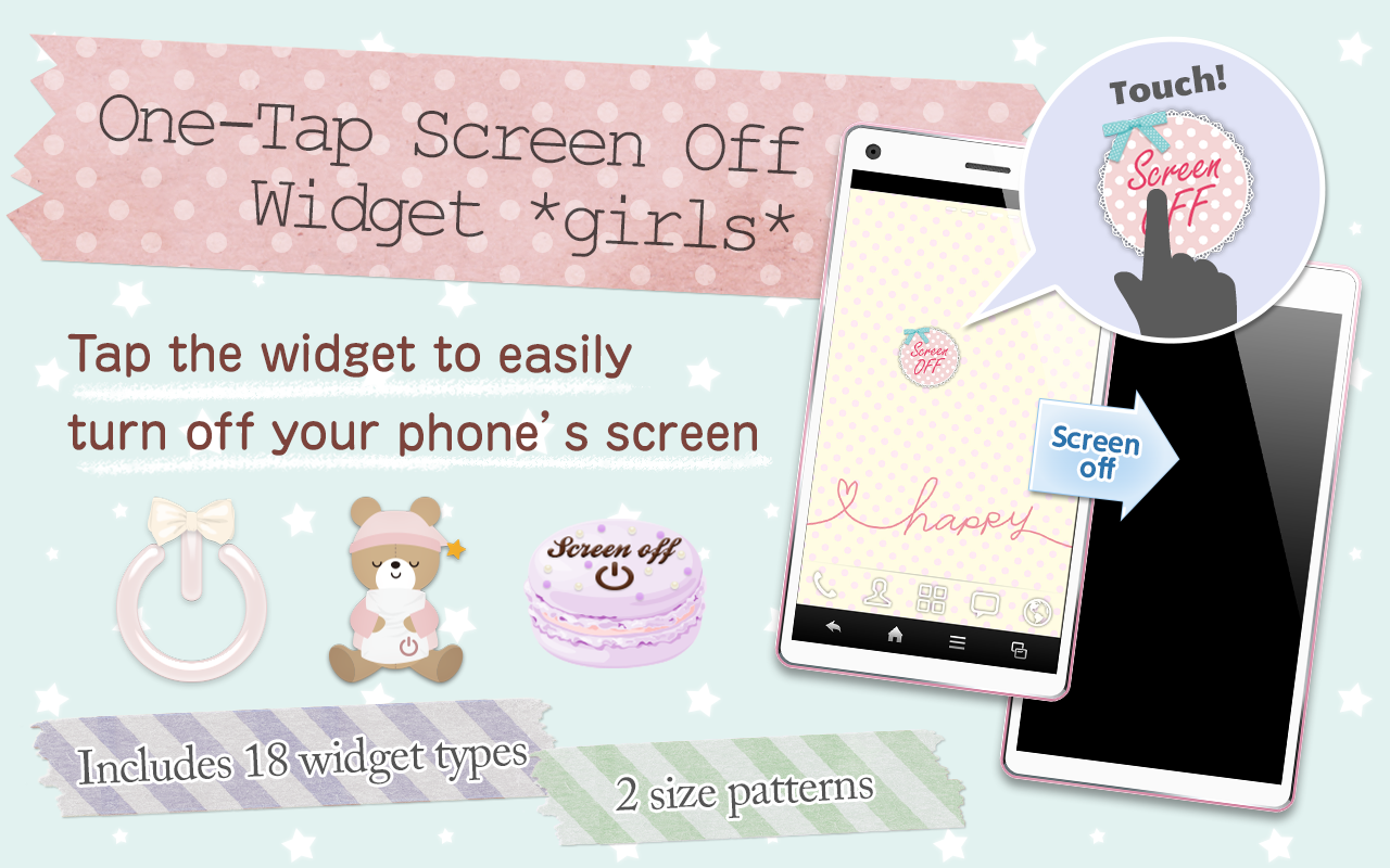 One-Tap ScreenOff Widget girls- screenshot