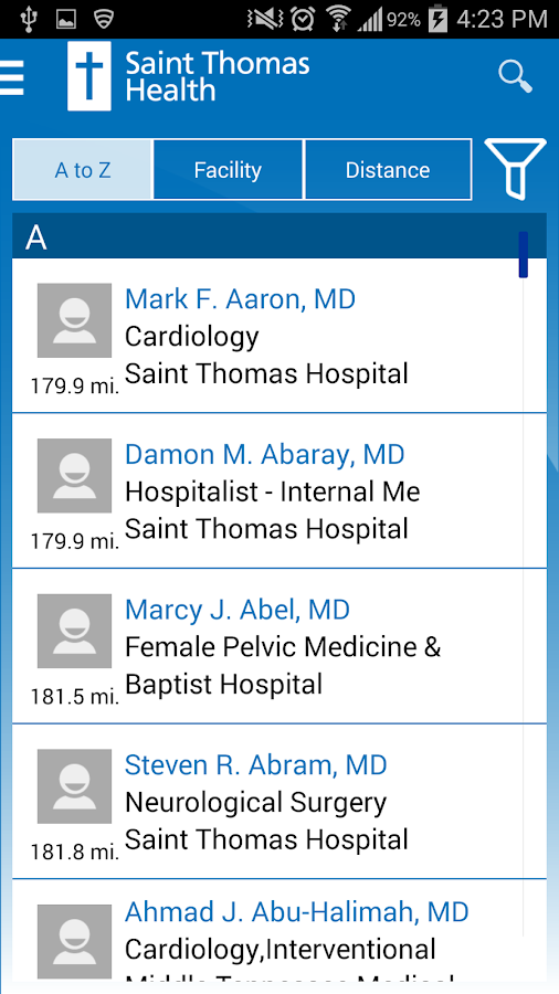 Saint Thomas Health- screenshot