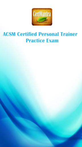 ACSM CPT - Trainer Exam Prep
