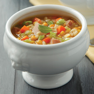 Split Pea Soup with Ham & Barley.
