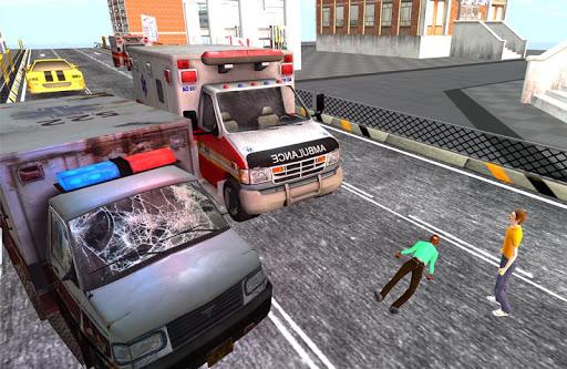 速いレーサー救急車