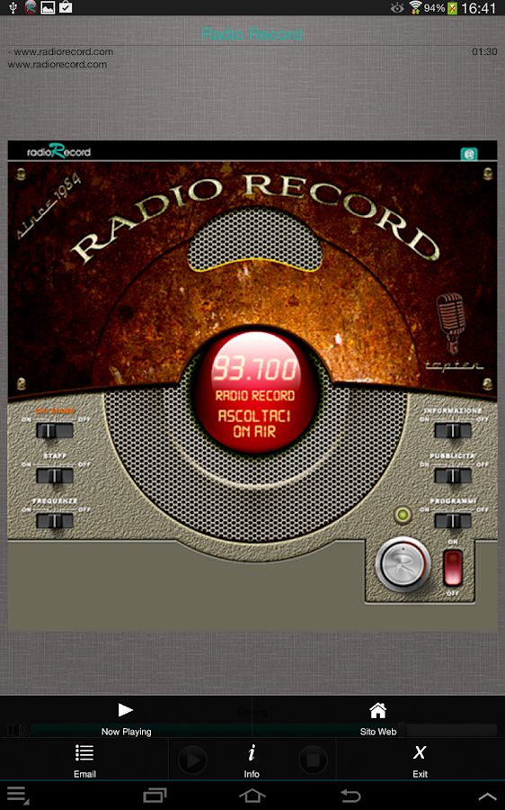 Radio Record- screenshot