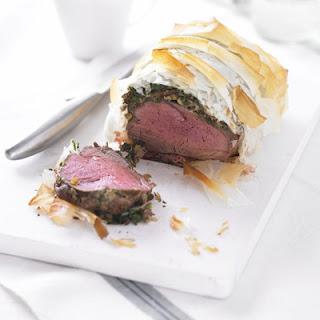 Healthier beef Wellington