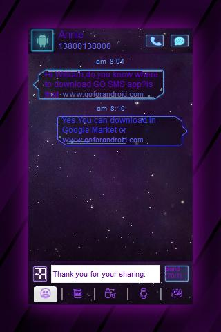 GO SMS Galaxy Android Theme