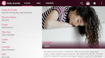 Screenshot of Radio Guerrilla