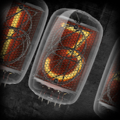 Animated Nixie clock widget