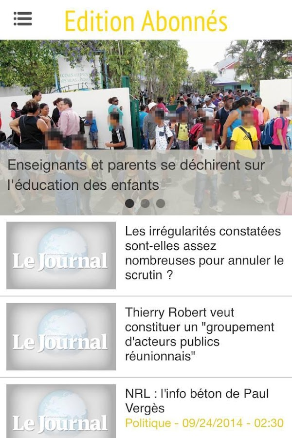 Clicanoo - Journal de l'île- screenshot