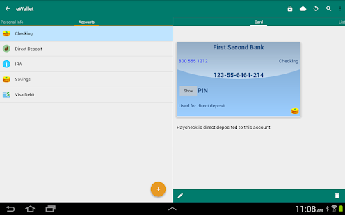 eWallet - Password Manager- screenshot thumbnail