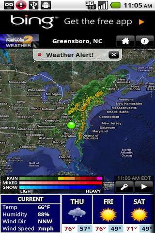 WFMY Radar - screenshot