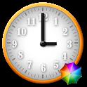 White - Orange Clock Widget icon