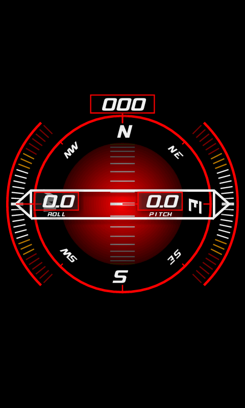 Inclinometer (+Compass) - screenshot