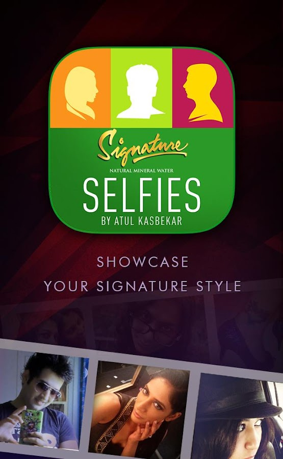 The Signature Selfies App - screenshot