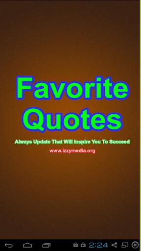 Favorite Quotes Pro