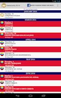 Screenshot of Calendario Feriados Venezuela