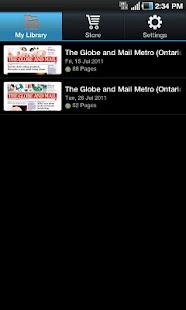 The Globe and Mail's Globe2Go- screenshot thumbnail