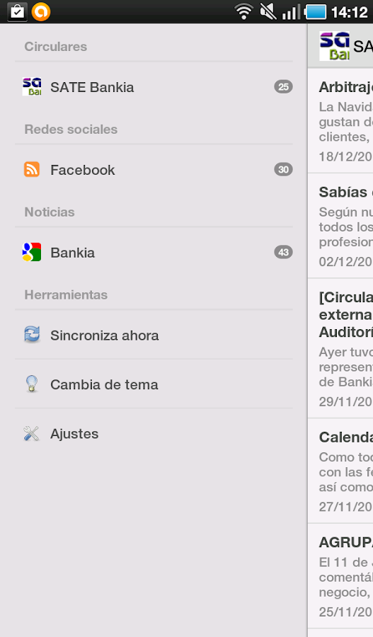 SATE Bankia- screenshot