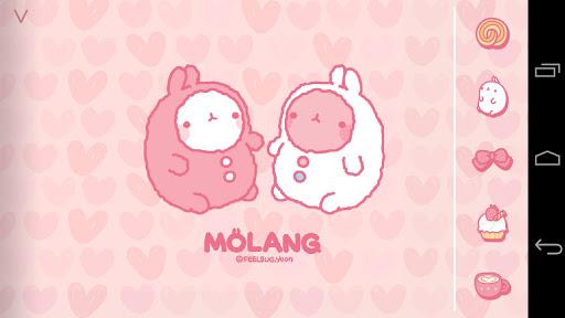 Molang Cup Cake Pink Atom