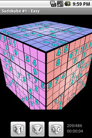 Sudokube Demo - 3D Sudoku- screenshot