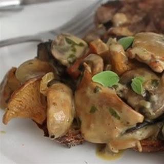 Creamy Wild Mushroom Ragout
