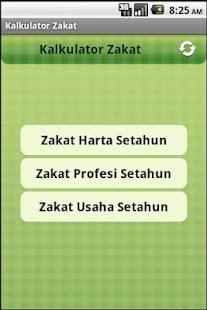 Kalkulator Zakat- screenshot thumbnail