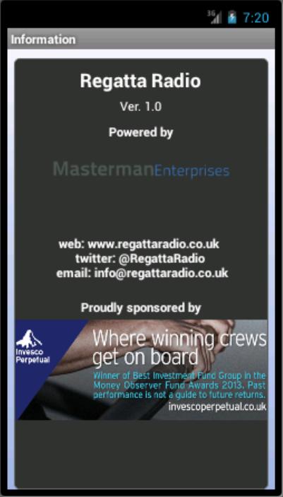 Regatta Radio - screenshot