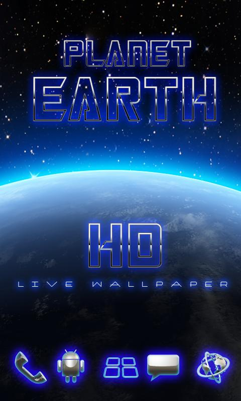 HD earth glow live wall - screenshot
