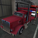 Car transporter 3D truck sim icon