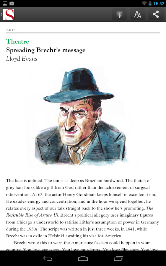 The Spectator Magazine - screenshot