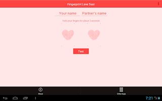 Screenshot of Fingerprint Love Test