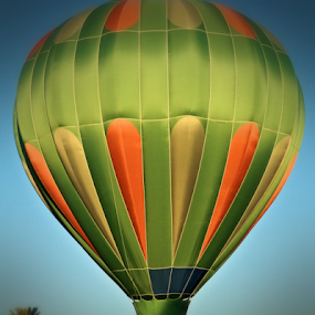 Green Balloon Rising by Becky McGuire - News & Events US Events ( mcguire, sky, tvlgoddess, fly, transport, green, beautiful, arizona, hot, air, balloon,  )