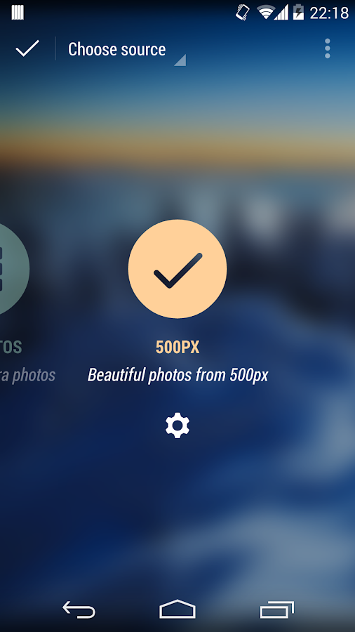 500px for Muzei (extension) - screenshot