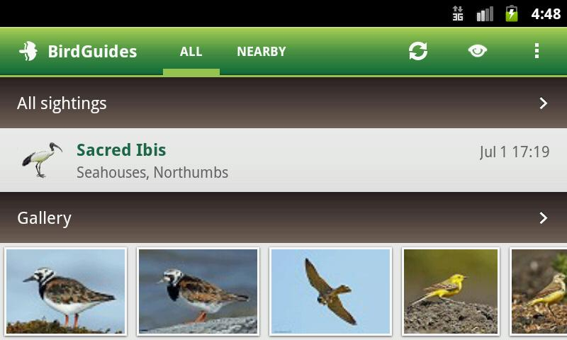 BirdGuides - screenshot