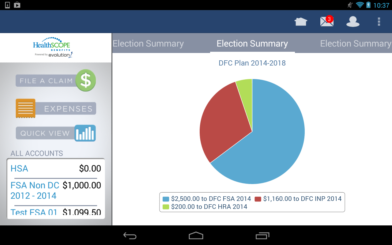 HealthSCOPE Benefits Mobile - screenshot