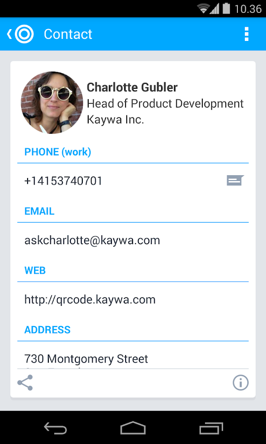 QR Code Reader from Kaywa - screenshot