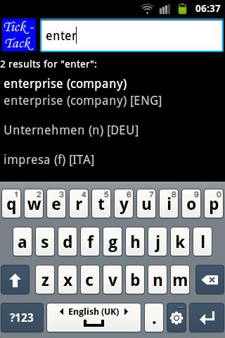 Business lexicon