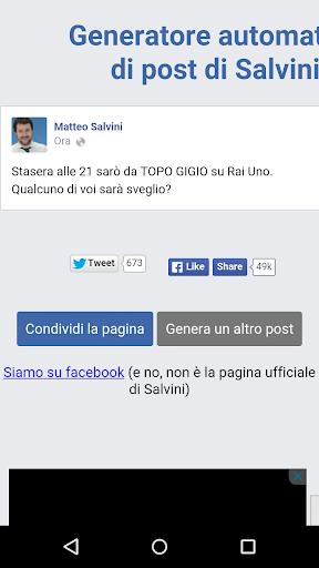 Generatore di post di Salvini