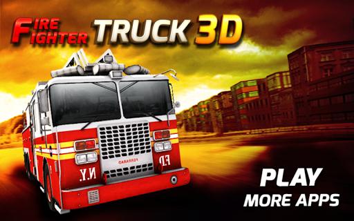 Firefighter truck 3d