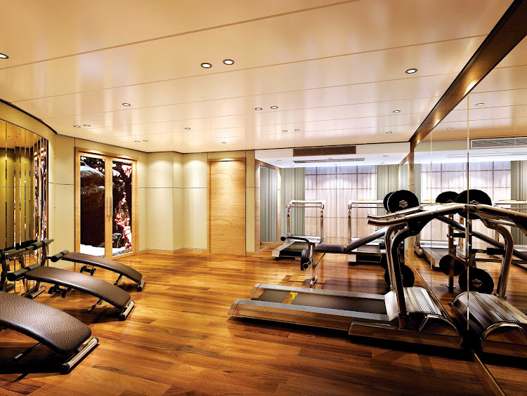 Stay in shape throughout your cruise of China with workouts