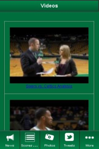 Boston Celtics Fan App - screenshot